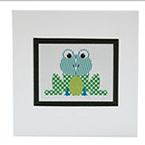 Frog pattern card